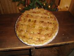 "9"" LATTICE PIE BAKERY CANDLE"